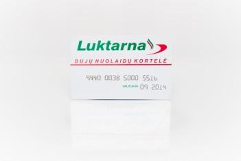 Plastikinė kortelė su iškiliaja spauda (embosingu)