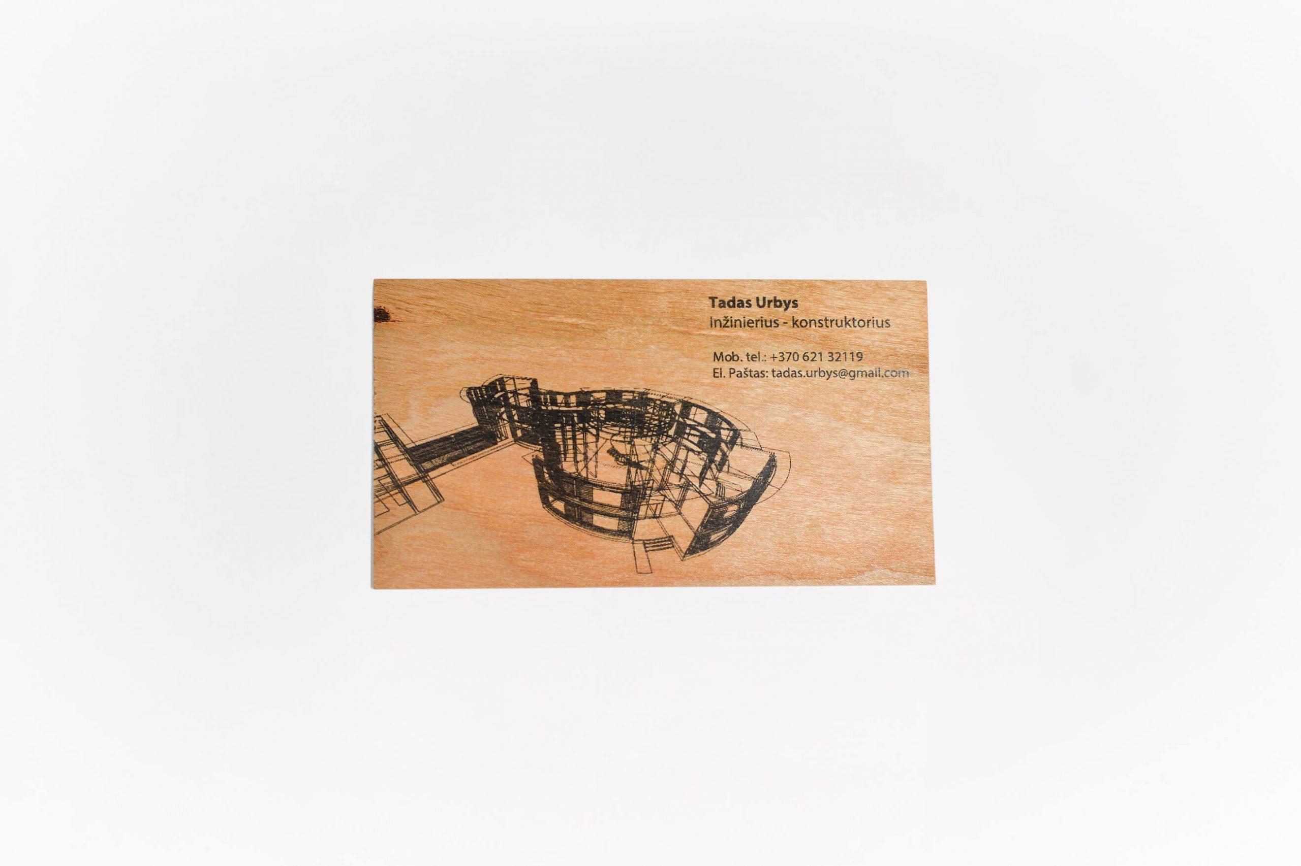 Medinės vizitinės kortelės